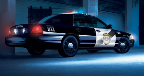 2005 ford crown victoria police interceptor rear end